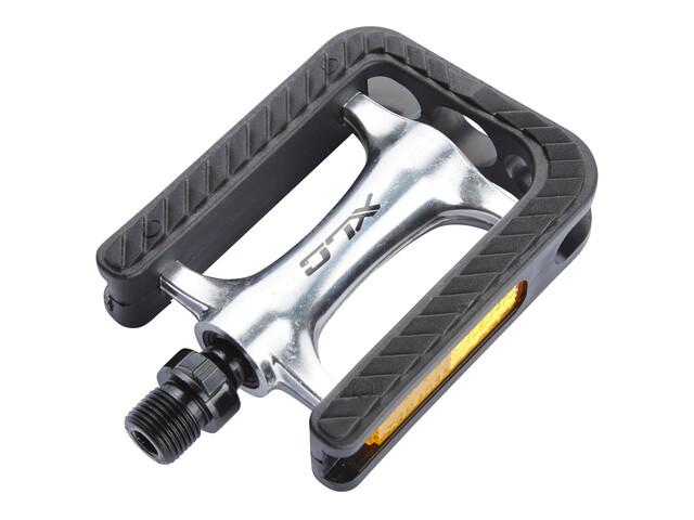 XLC PD-C02 SB-Plus City/Comfort Pedal silver/schwarz